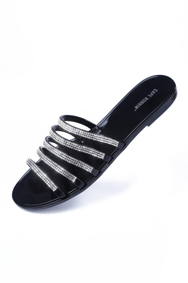 KAMARON CLEAR THE AIR SANDAL-BLACK