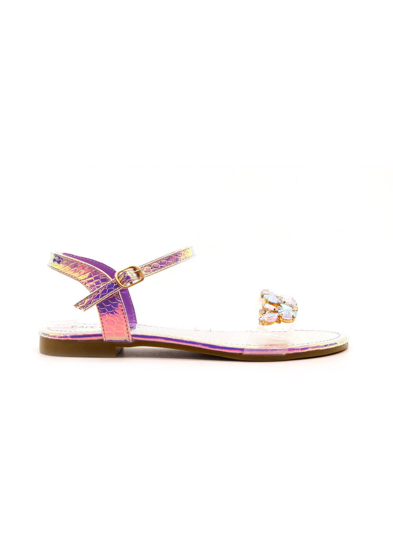 STAZIE SPARKLE TILL DAWN JEWELED SANDALS-HOLO