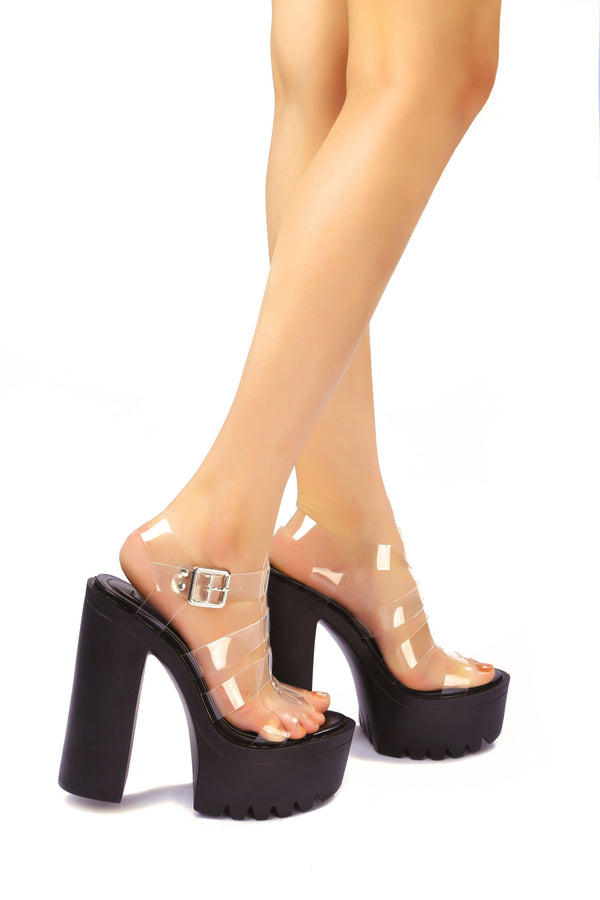 PLAYDATE LIKE IT WHEN YOU TAKE CONTROL PLATFORM SANDAL-BLACK