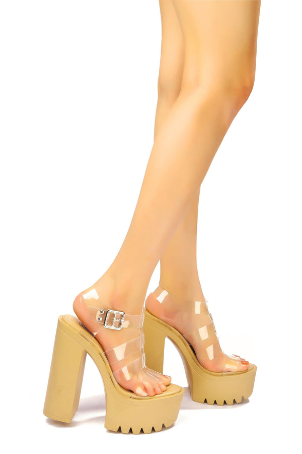 PLAYDATE LIKE IT WHEN YOU TAKE CONTROL PLATFORM SANDAL-NUDE