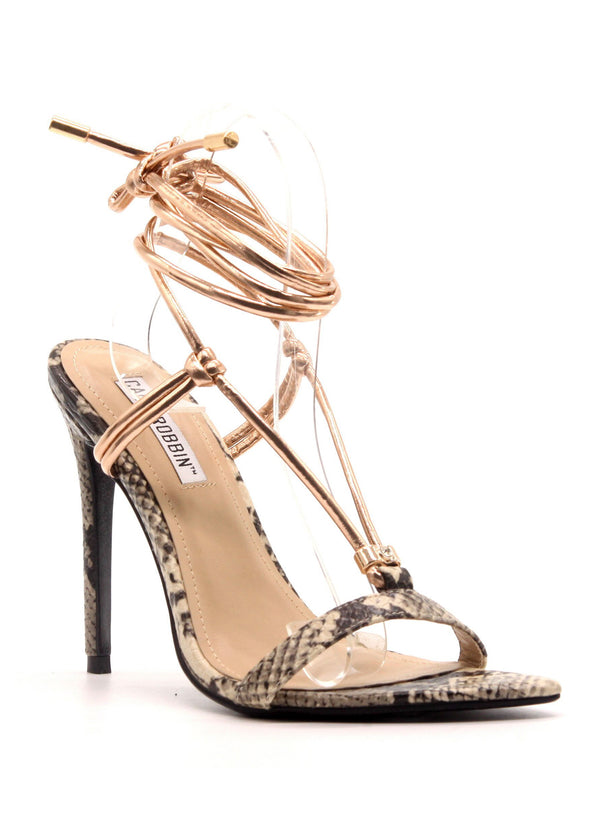 MISTIE ALL OVER AGAIN LACE UP STILETTOS-NUDE