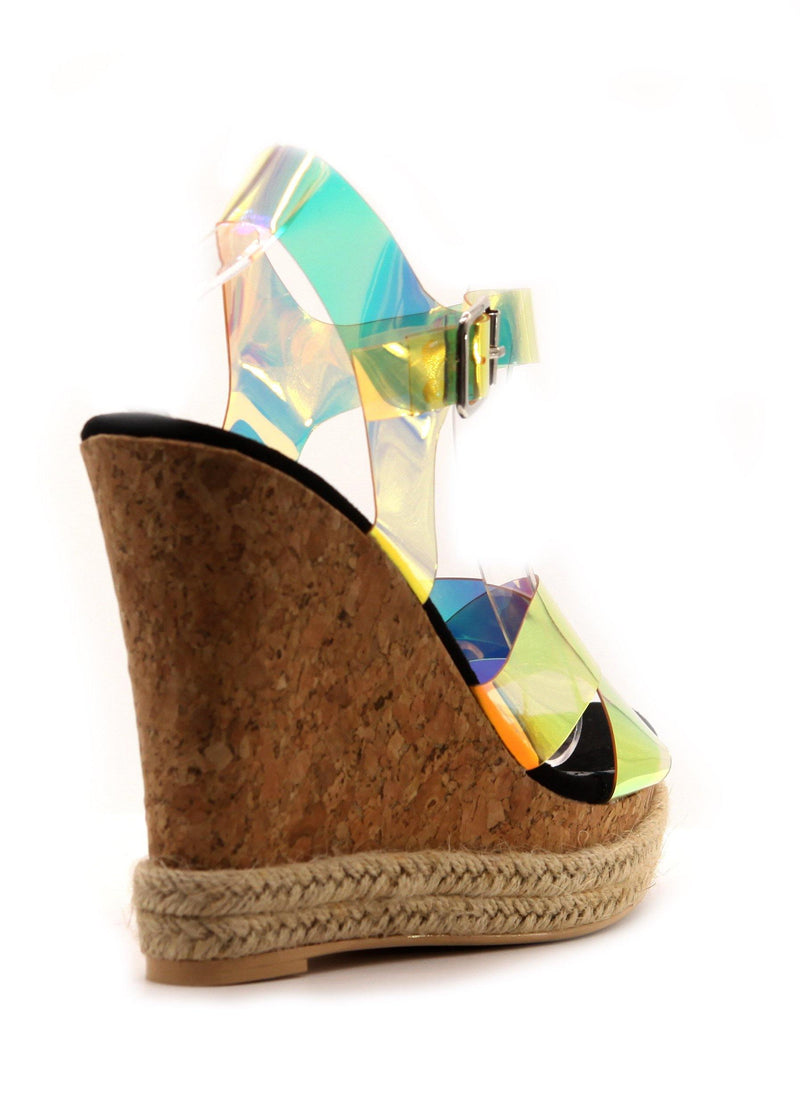 LUCID HOLOGRAPHIC WEDGE-BLACK