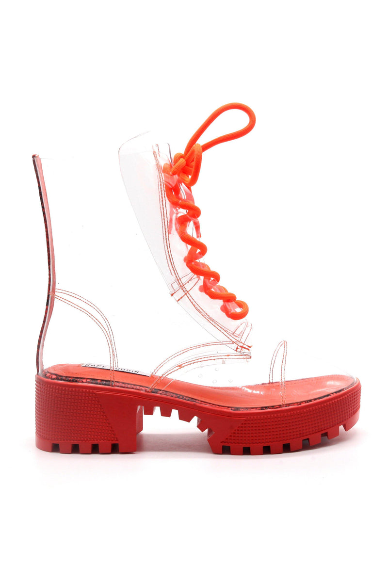 KENDRA IS THAT GIRL CLEAR BOOTS-ORANGE
