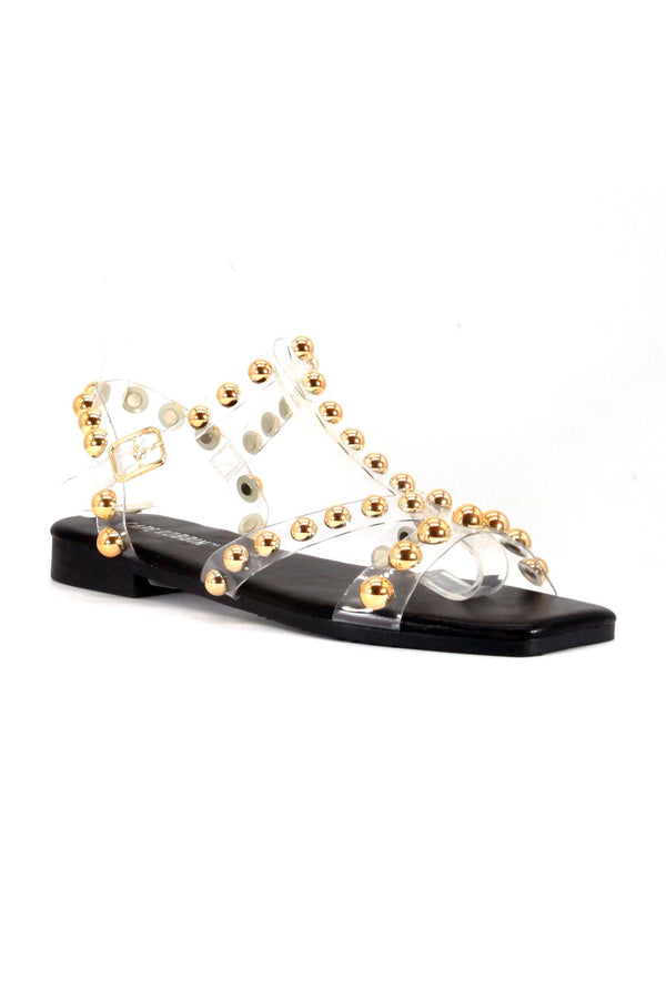 SYNCHRO SUMMER LUV PVC SANDAL-BLACK GOLD