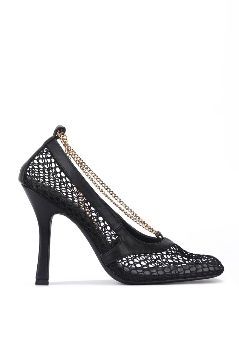 FAE SORRY, ALREADY TAKEN NETTED MESH PUMPS-BLACK