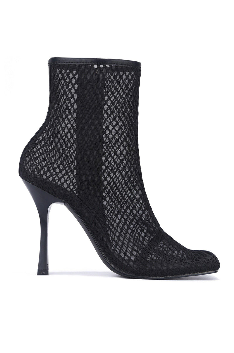 LISETTE SAVE YOUR TIME STILETTO HEEL BOOTIE-BLACK