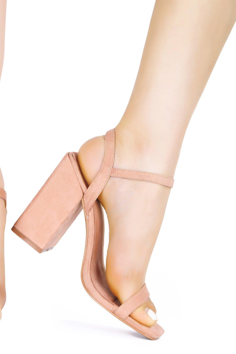 BASHA WANT IT GET IT DOUBLE STRAP CHUNKY HEEL-NUDE