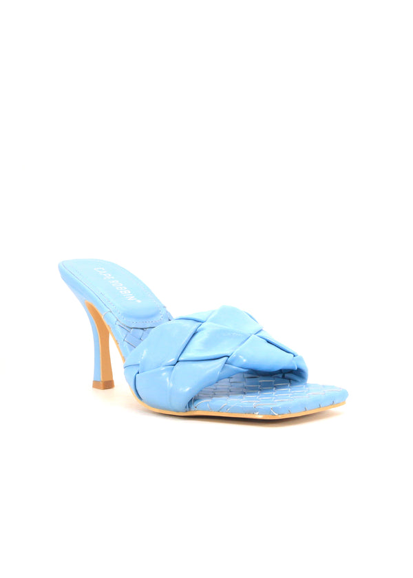 WAVE IT LIKE NEVER BEFORE SLIP ON WOVEN HEELS-BLUE