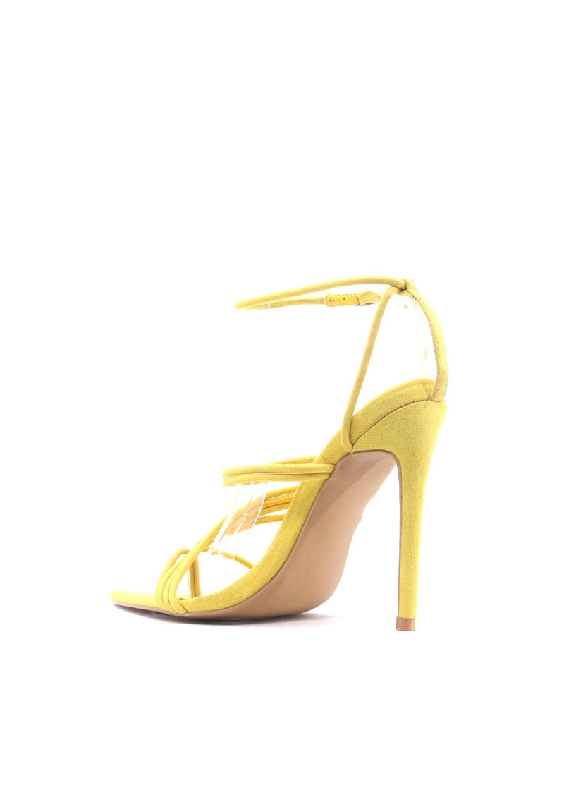 MARSHMALLOW YOU'RE THE SWEETEST STRAPPY STILETTO-YELLOW