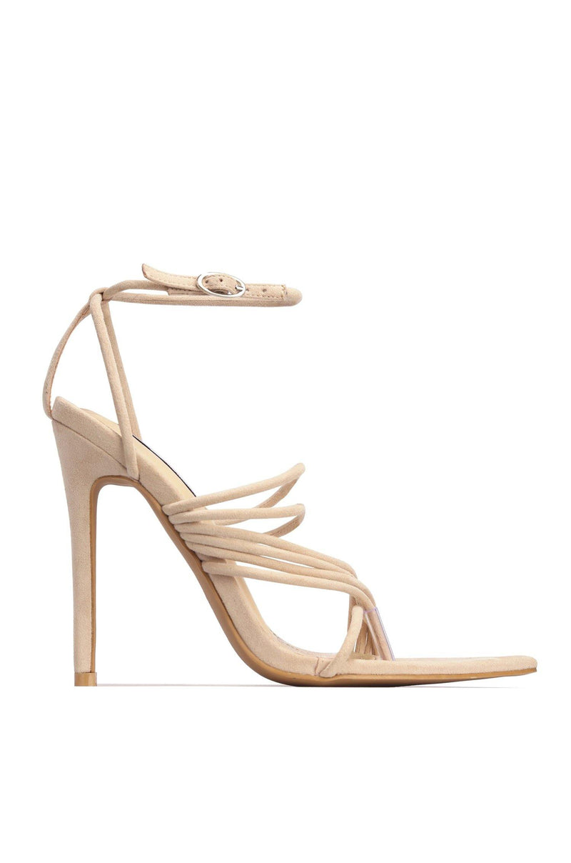 MARSHMALLOW YOU'RE THE SWEETEST STRAPPY STILETTO-NUDE