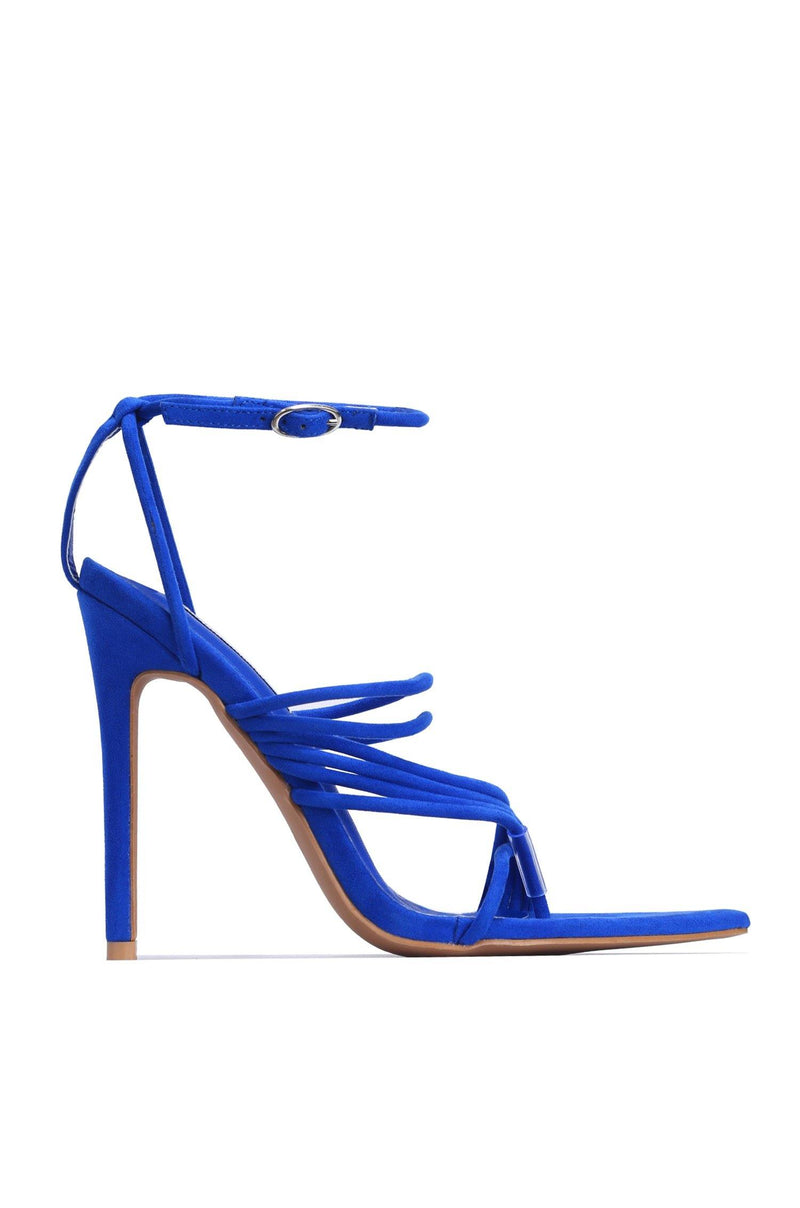 MARSHMALLOW YOU'RE THE SWEETEST STRAPPY STILETTO-BLUE