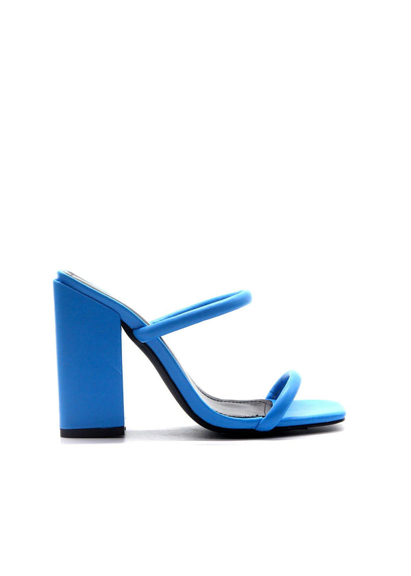 RHEA NOW OR NEVER SLIP ON CHUNKY BLOCK HEEL-BLUE