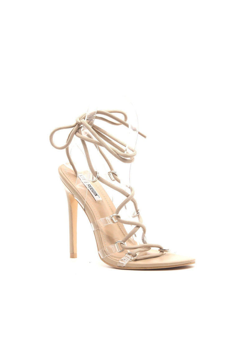 TYING TO BE WITH YOU CORD LACE UP STILETTO-NUDE