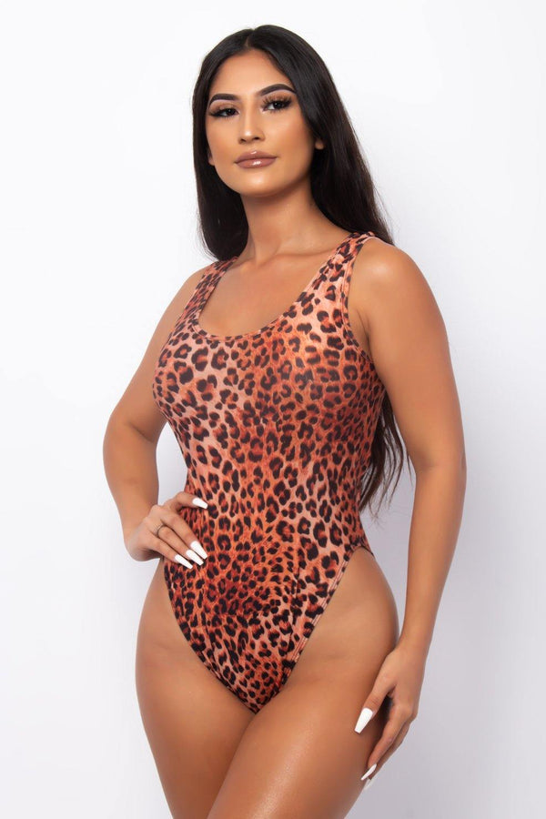 FROM THE JUNGLE TWO PIECE SWIMSUIT & SHAWL SET-LEOPARD