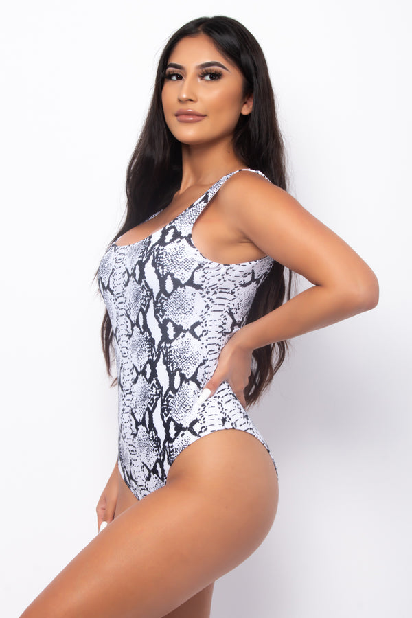 MALIBU LOVE ONE PIECE SNAKE SKIN SWIMSUIT-SNAKE