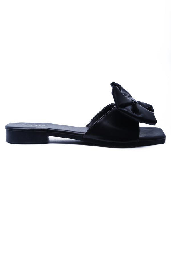 JUJU THAT BOW THOUGH BOW SLIDE SANDAL-BLACK