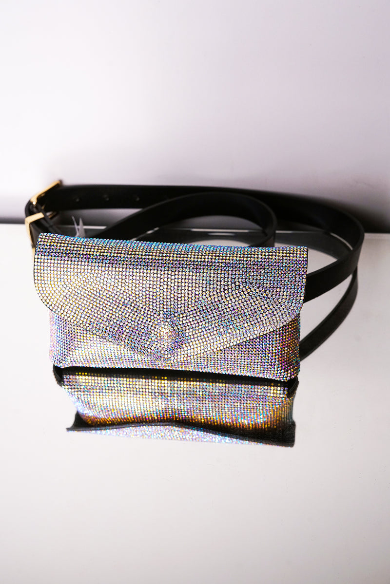 REBOUND CRYSTAL-EMBELLISHED BAG-PINK