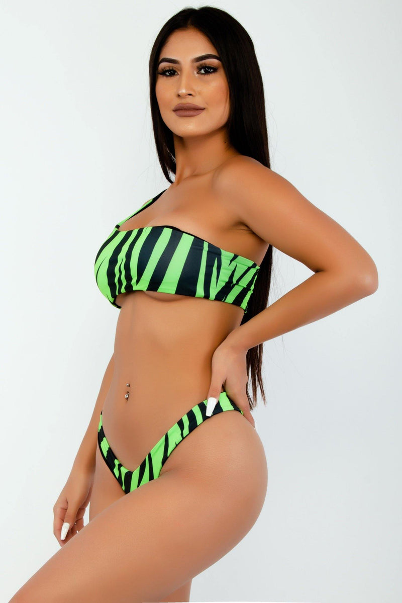TIGER QUEEN TWO PIECE BIKINI-GREEN