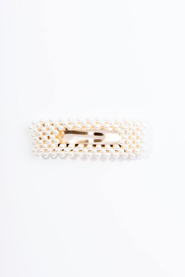 BEADS GALORE HAIR CLIP-WHITE