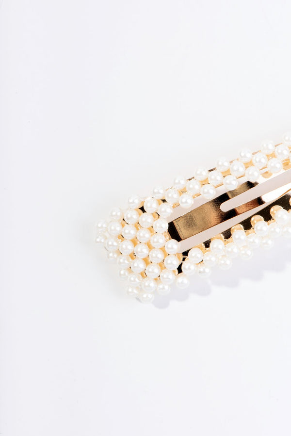 CLIPPLY PEARLS HAIR CLIP-GOLD