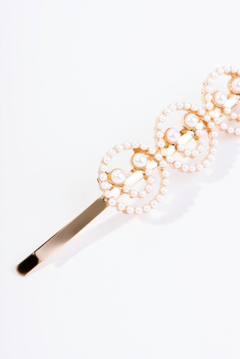 THREE SMILES HAIR CLIP-GOLD