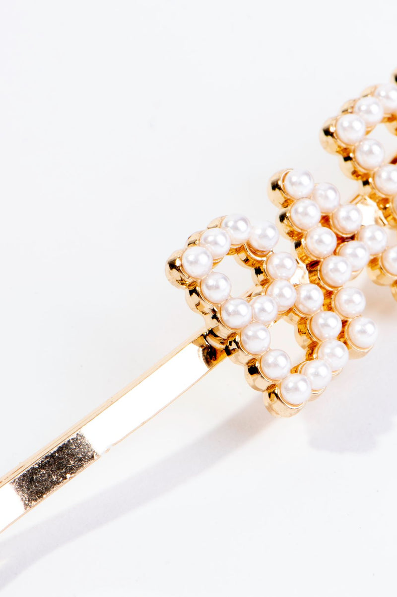 PEARLY BABY HAIR PIN-GOLD