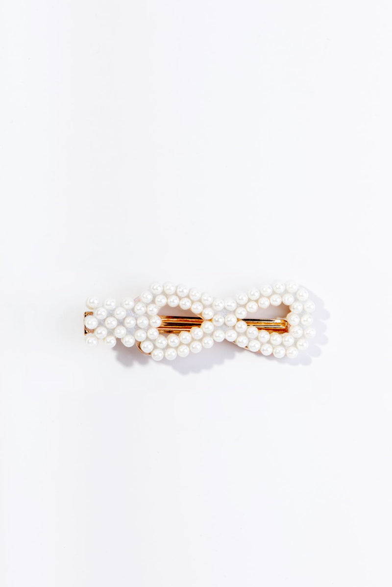 PEARLY MASK HAIR CLIP-GOLD