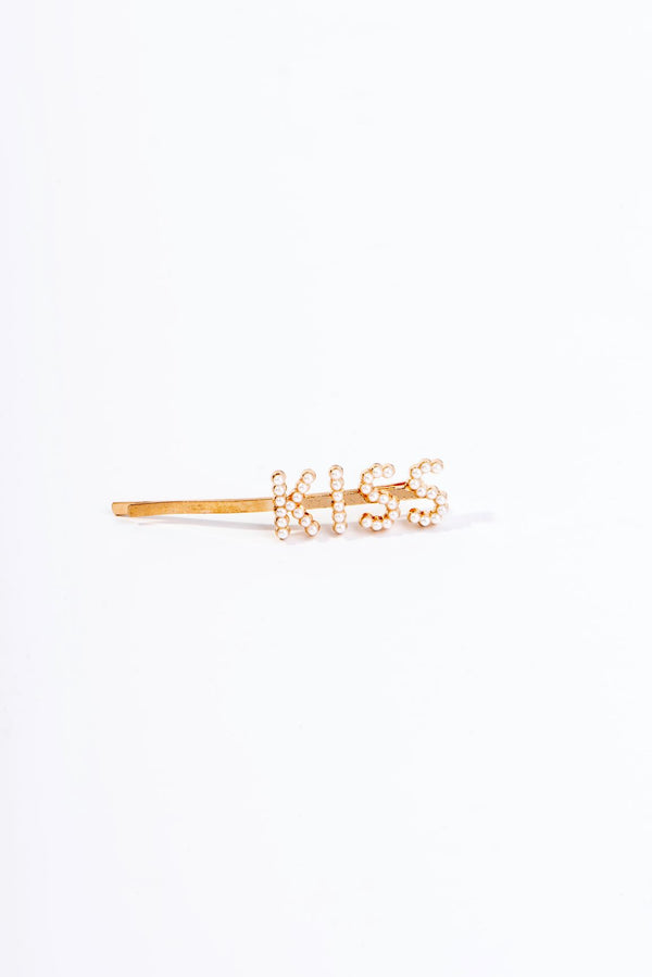 KISS PEARLY HAIR PIN-GOLD