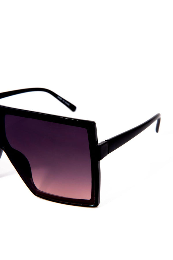 TINTED BIG EYE SUNGLASSES-TAN
