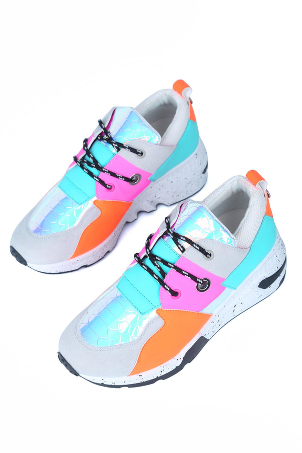 BIGBANG COLORFUL WEDGE SNEAKER-GREY