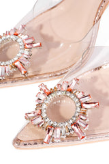 GLASSY POP LIFE FANCY SEXY HEELS-ROSE GOLD