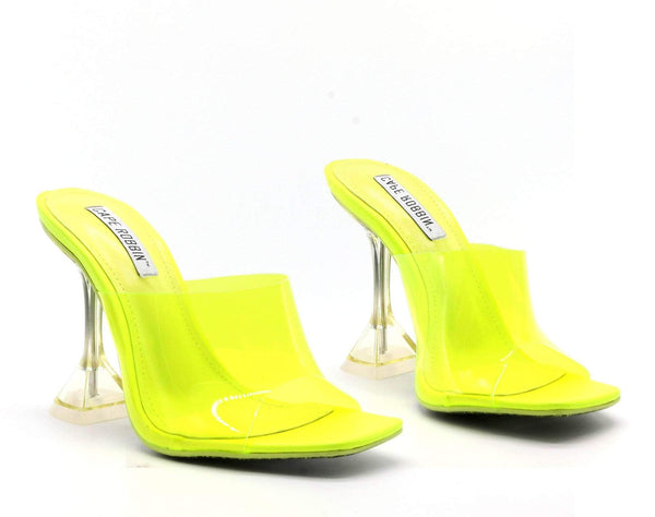 BREEZE GOT IT RIGHT CHUNKY SANDALS-LIME