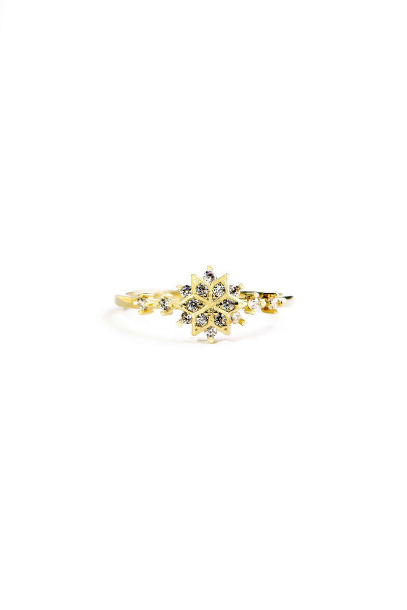GOLDEN SNOWFLAKE RING-GOLD
