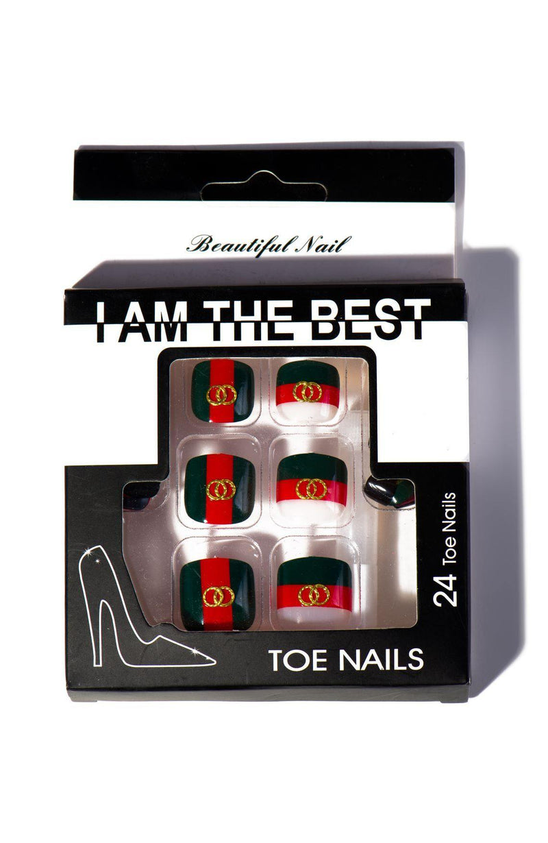 FAMOUS FEEL FASHION NAILS SET-GRN - FlashyBox