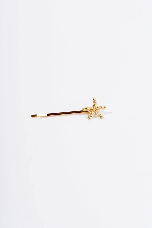 BABY STARFISH HAIR CLIP-GOLD