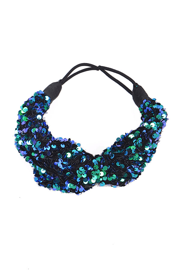 ALL NIGHT SEQUIN HEADBAND-MERMAID