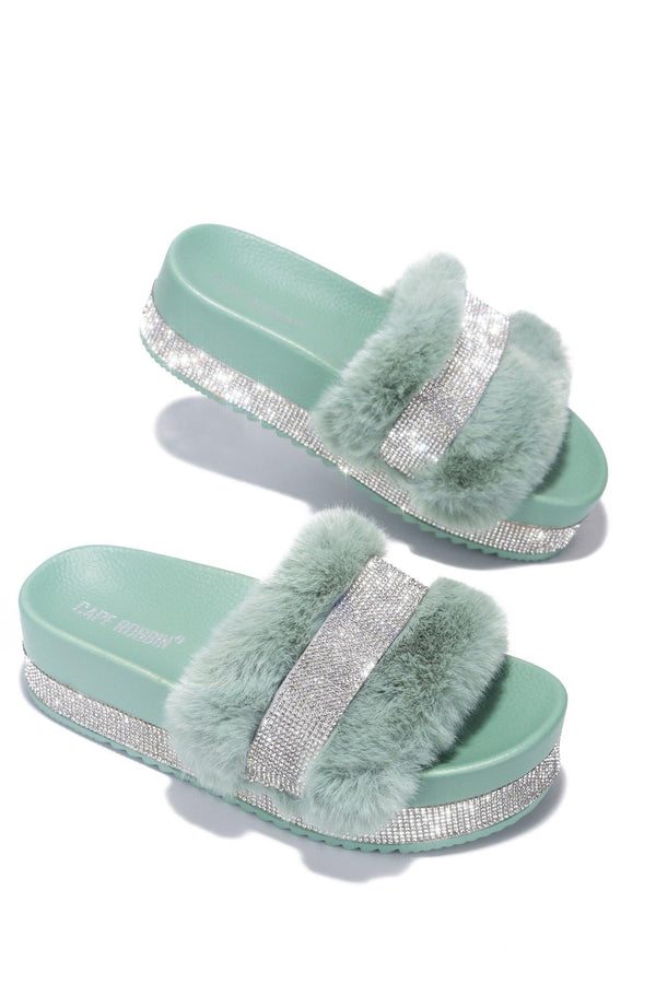 COLUMBIA SWEET HAVEN FUR SANDAL-MINT