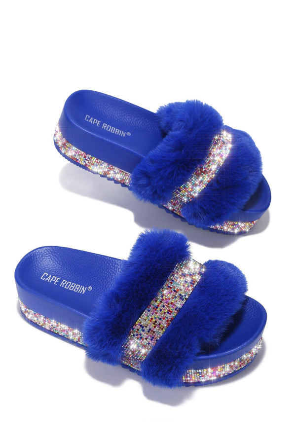 COLUMBIA SWEET HAVEN FUR SANDAL-BLUE