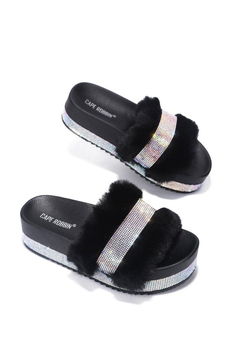 COLUMBIA SWEET HAVEN FUR SANDAL-BLACK