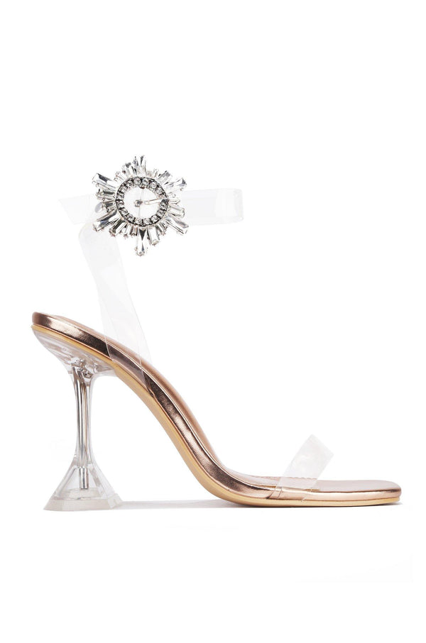 IMELDA WE'LL SEE ABOUT THAT HEELED  SANDAL-ROSE GOLD