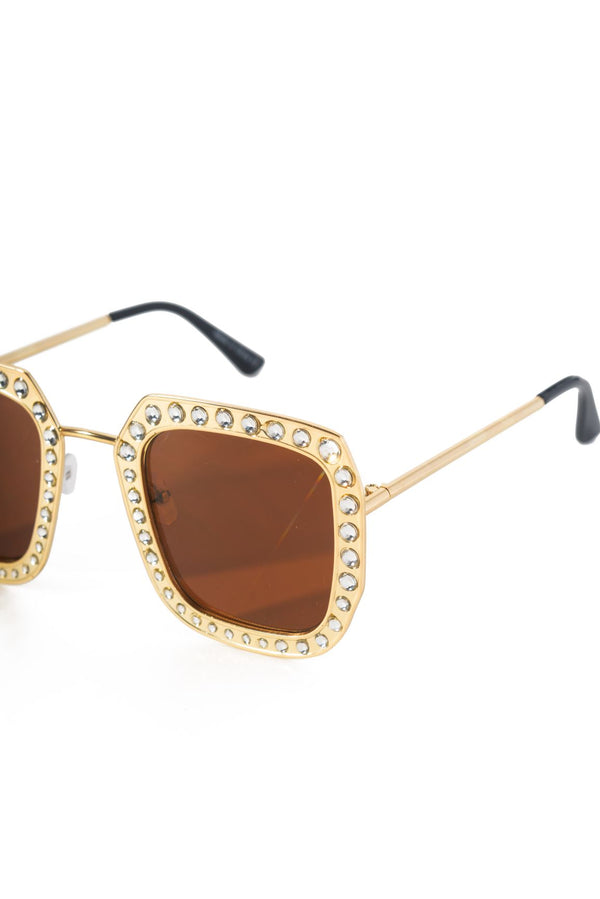 GOLDEN PARADISE SUNGLASSES-TAN - FlashyBox