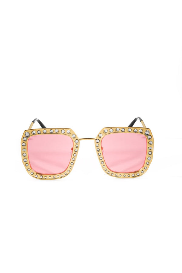 GOLDEN PARADISE SUNGLASSES-PINK - FlashyBox