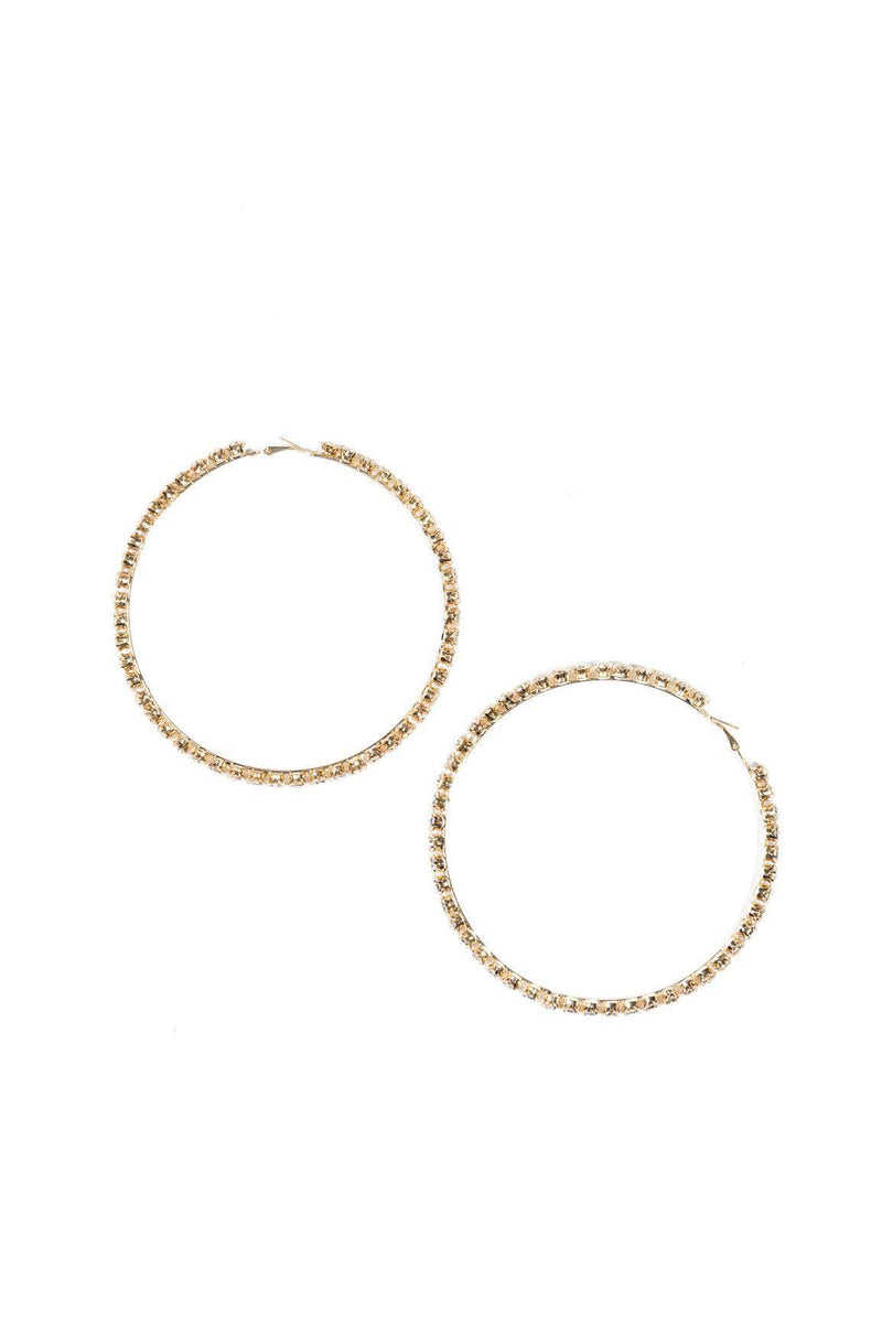 RUBY BABY HOOP EARRINGS-GOLD