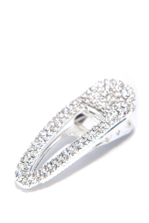 JUST DIAMONDS RHINESTONE HAIR CLIP-SILVER