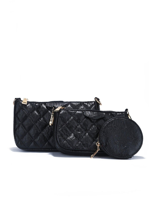 FRENCH SPRING CLUTCH SET-BLACK