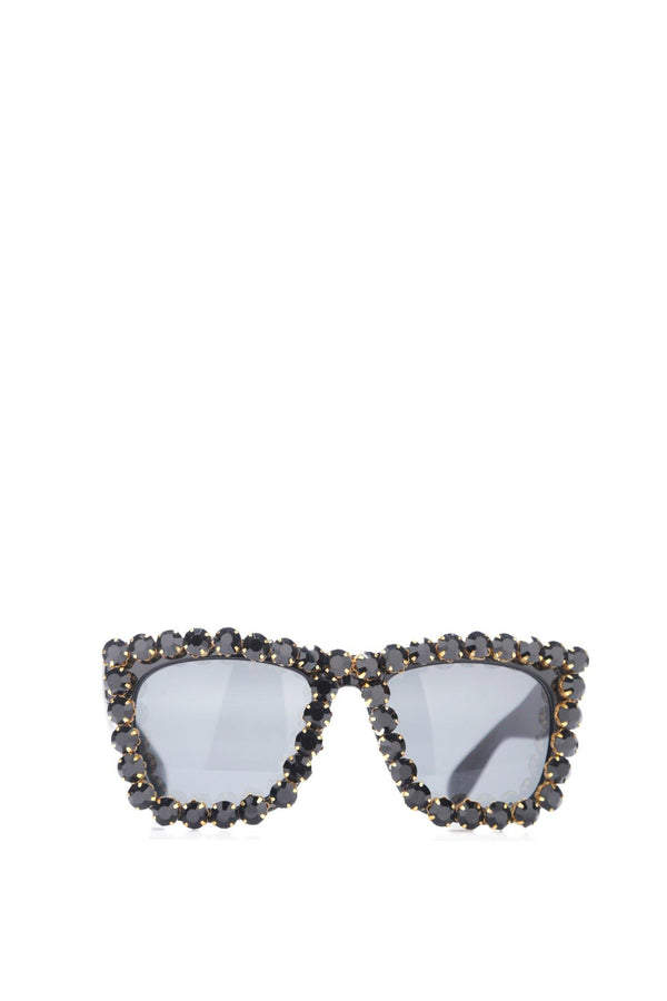 JUST SAYING DIAMOND SUNGLASSES-BLACK