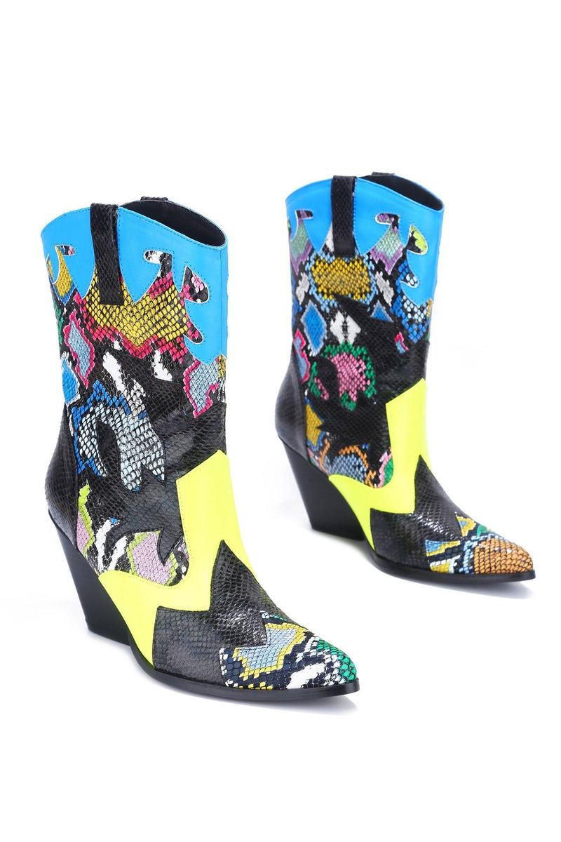 LOYCE WHATEVER YOU SAY WESTERN BOOTS-MULTI SNAKE