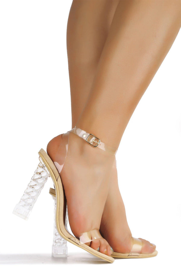 DIMMY I RUN THE SHOW HEELED SANDAL-NUDE