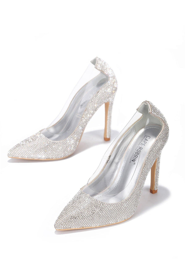 TOPIA KEEP HER AROUND RHINESTONE PUMPS-SILVER