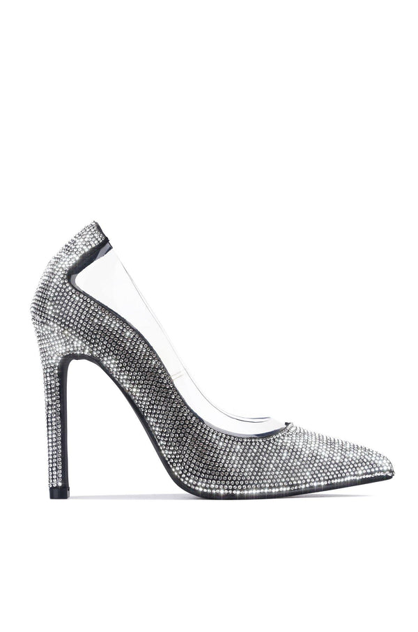 TOPIA KEEP HER AROUND RHINESTONE PUMPS-BLACK